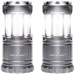 コンパクトLEDランタン電池式2個セット 折り畳みタイプ LEDライト アウトドアライト キャンプランタン 防災 震災 停電 非常灯 明るい 500ルーメン