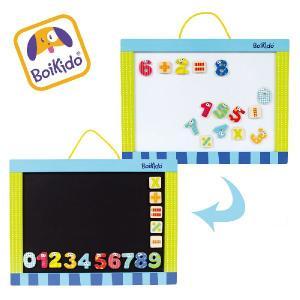 木製 マグネットボード 子供用 黒板 / ホワイトボード マグネット付き Boikido(ボイキド)|ebaby-select