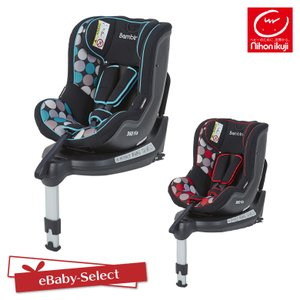 日本育児 バンビーノ360Fix 北欧デザイン チャイルドシート 新生児 回転式 ISOFIX(送料無料)|ebaby-select