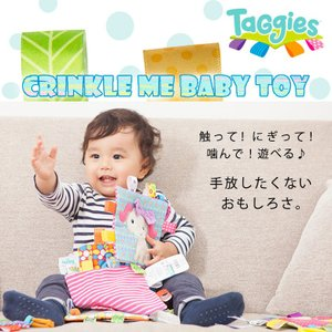 Taggies Crinkle me Baby Toy シャカシャカ クロス|ebaby-select