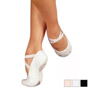 バレエシューズ 大人用 サンシャ 製スプリットソール布製バレエシューズ Pro C1 広いW巾 eballerina
