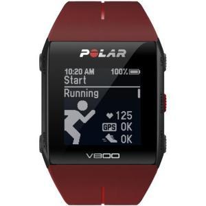 Polar 90060773(レッド) V800 2 HR GPSマルチスポーツウォッチ 腕時計タイプ|ebest