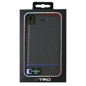 エアーズジャパン TRD-P7 B4 iPhone8/7/6s用 カーボン調手帳型カバー 横開きタイプ|ebest