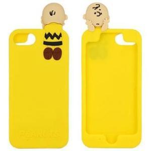 グルマンディーズ SNG-318B(チャーリー・ブラウン) iPhone8 7 6s 6用 シリコンケース ピーナッツ ebest