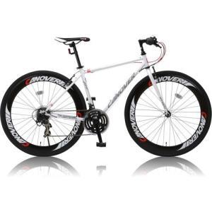 canover NYMPH クロスバイク CAC-025 700×28C シマノ21段変速 ホワイト|ebest