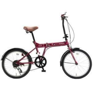 マイパラス M-208RO(ルージュ) 折畳自転車20・6SP|ebest