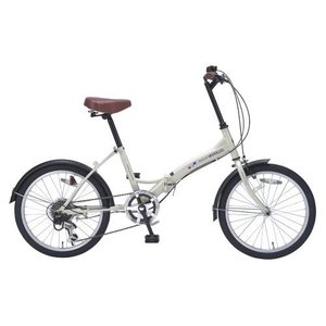 マイパラス M-209IV(アイボリー) 折畳自転車 20インチ 6段ギア|ebest