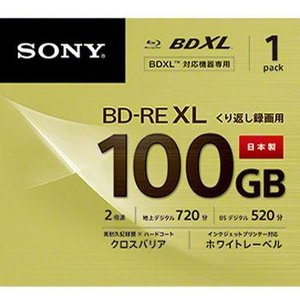 ソニー BNE3VCPJ2 録画用 BD-RE XL 100GB 繰り返し録画 プリンタブル 2倍速 1枚|ebest