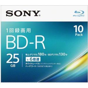 ソニー 10BNR1VJPS6 録画・録音用 BD-R 25GB 一回(追記)録画 プリンタブル 6倍速 10枚|ebest
