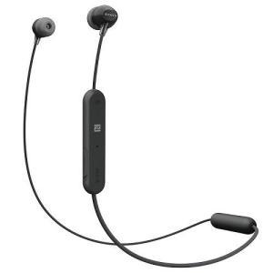 ソニー WI-C300-B(ブラック) ワイヤレスステレオヘッドセット|ebest