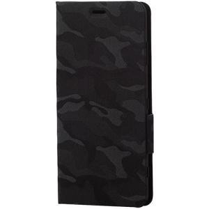 エレコム PM-XZ3PLFUCF カモフラ(ブラック) Xperia XZ3 ソフトレザーカバー 薄型 磁石付 ebest