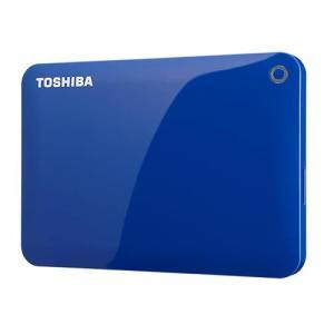 東芝 HD-PE10TB(ブルー) ポータブルHDD 1TB USB3.0接続 CANVIO CONNECT