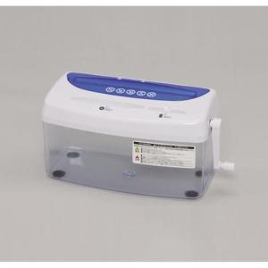アイリスオーヤマ H1ME(ブルー/ホワイト) クロスカット A4対応 ハンド シュレッダー