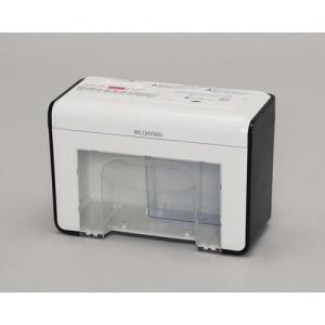 アイリスオーヤマ P2HT(ホワイト/ブラック) クロスカット A4対応 シュレッダー