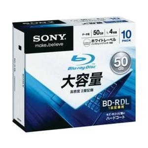 ソニー 10BNR2DCPS4 データ用 BD-R DL 50GB 1回記録 プリンタブル 4倍速 10枚