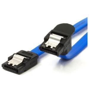 オウルテック OWL-SATASLU2-BL(ブルー) ラッチ付き 下L型タイプ SATAケーブル 0.2m|ebest