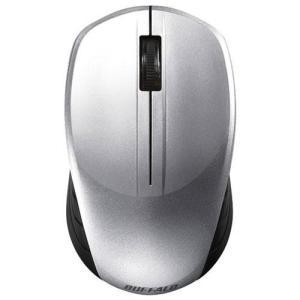 バッファロー BSMBW100SV(シルバー) USB ワイヤレスBlueLEDマウス 無線(2.4GHz)接続 3ボタン ebest