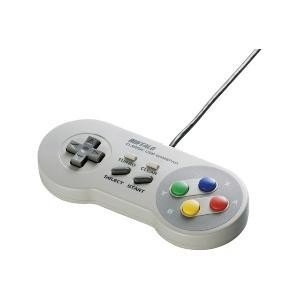バッファロー BSGP810GY(グレー) レトロ調 USBゲームパッド 8ボタン SFCタイプ|ebest