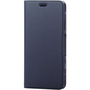 エレコム PM-A18DPLFUJNV(ネイビー) iPhoneXs Max用 ソフトレザーカバー 薄型 磁石付 ebest