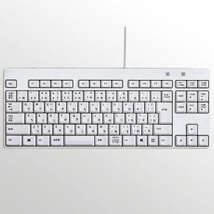 エレコム TK-FCM084WH(ホワイト) TK-FCM084 有線キーボード 日本語92キー|ebest