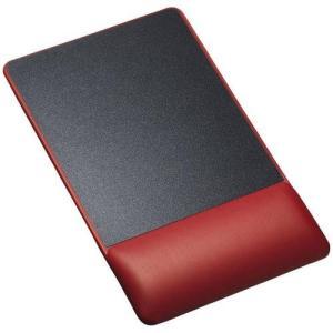 サンワサプライ MPD-GELPNR(レッド) リストレスト付きマウスパッド レザー調素材 高さ標準
