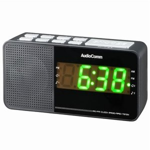 オーム電機 RAD-T210N(ブラック) AudioComm AM/FM クロックラジオ ebest