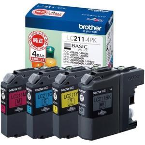 ブラザー LC211-4PK 純正 インクカートリッジ 4色パック|ebest