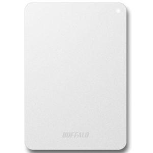 バッファロー HD-PNF1.0U3-BWD(ホワイト) HD-PNFU3-D ポータブルHDD 1TB USB3.0/2.0接続 耐衝撃