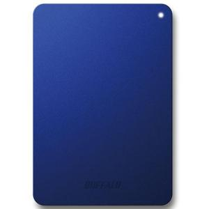 バッファロー HD-PNF1.0U3-BLD(ブルー) HD-PNFU3-D ポータブルHDD 1TB USB3.0/2.0接続 耐衝撃
