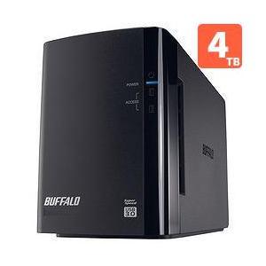 バッファロー HD-WL4TU3/R1J 外付HDD 4TB USB3.0接続 RAID対応 2ドライブ|ebest