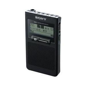 【長期保証付】ソニー XDR-63TV-B(ブラック) ワンセグTV音声受信ポケッタブルラジオ