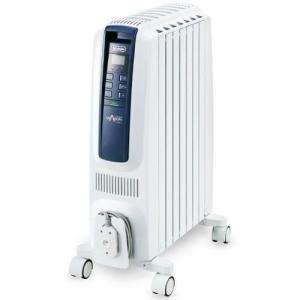 【長期保証付】デロンギ QSD0712-MB(ピュアホワイト+ブルー) ドラゴンデジタルスマート オイルヒーター 1200W|ebest