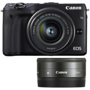 【長期保証付】CANON EOS M3 ダブルレンズキット2(ブラック)