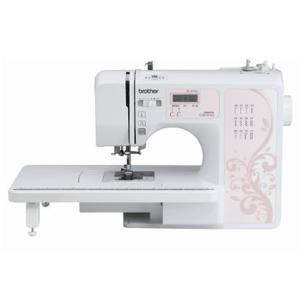 【長期保証付】ブラザー OB510S(ピンク) コンピューターミシン ワイドテーブル・フットコントローラー付|ebest