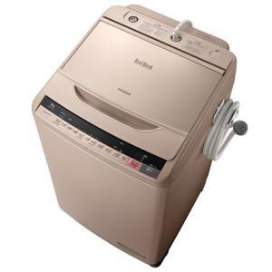 【設置+リサイクル+長期保証】日立 BW-V100A-N(シャンパン) ビートウォッシュ 全自動洗濯機 洗濯10kg