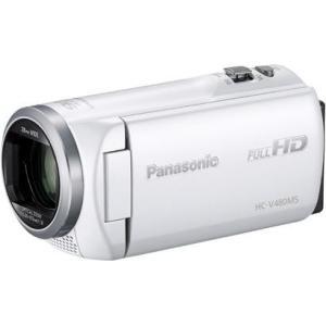 【長期保証付】パナソニック HC-V480MS-W(ホワイト) デジタルハイビジョンビデオカメラ 32GB