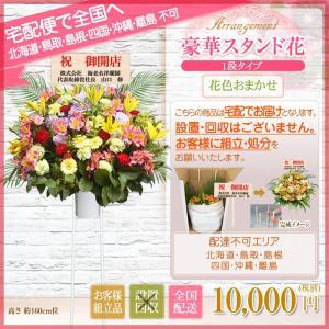 スタンド花 開店祝い 花 全国に宅配でお届け。一部除く 豪華1段スタンド花 10,000円(税別) 高さ160〜170cm位 立札無料【stta】|ebina-youran|02