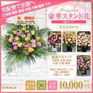 スタンド花 開店祝い 花 全国に宅配でお届け。一部除く 豪華1段スタンド花 10,000円(税別) 高さ160〜170cm位 立札無料【stta】|ebina-youran|05