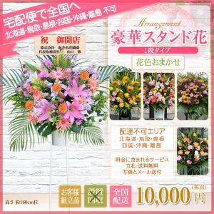 スタンド花 開店祝い 花 全国に宅配でお届け。一部除く 豪華1段スタンド花 10,000円(税別) 高さ160〜170cm位 立札無料【stta】|ebina-youran|06