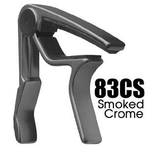 ダンロップ カポタスト 83CS スモークドクローム DUNLOP Trigger Acoustic Curved Smoked Chrome【ネコポス(旧速達メール便)送料230円】|ebisound