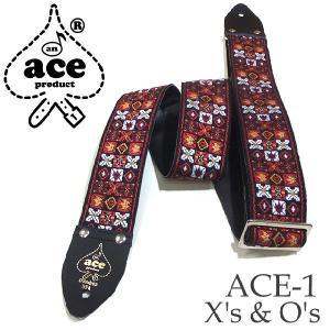 ACE エース ストラップ ACE-1 X's & O's by D'Andrea|ebisound