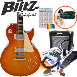 エレキギター 初心者セット レスポールタイプ 15点セット BLP-450/HB|ebisound