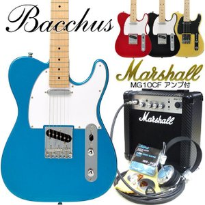 エレキギター 初心者セット Bacchus バッカス BTE-1M マーシャルアンプ付 初心者セット15点|ebisound