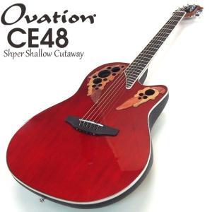 Ovation オベーション CE48 Ruby Red ルビーレッド エレアコ アコギ アコースティックギター|ebisound