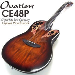 Ovation オベーション CE48P KOAB(Koa Burst) コアバースト エレアコ アコギ アコースティックギター|ebisound