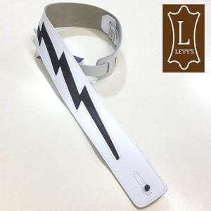 Levy's レビース ストラップ DM2 WHT Leather|ebisound