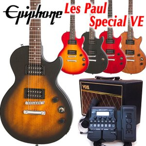 Epiphone エピフォン Les Paul Special VE VOXアンプ付 レスポール スペシャル VE 初心者セット18点 ZOOM G1XFour付き|ebisound