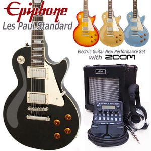 Epiphone エピフォン Les Paul Standard  レスポール初心者セット16点 ZOOM G1Four付き|ebisound