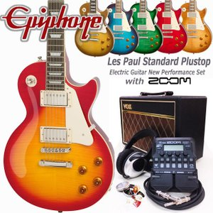 Epiphone エピフォン Les Paul Standard Plus-top Pro VOXアンプ付 レスポール初心者セット18点 ZOOM G1Four付き|ebisound