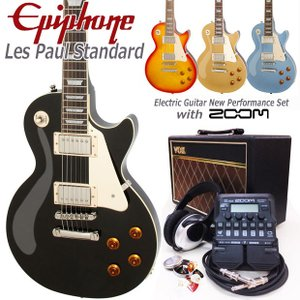 Epiphone エピフォン Les Paul Standard  VOXアンプ付 レスポール初心者セット18点 ZOOM G1Four付き|ebisound